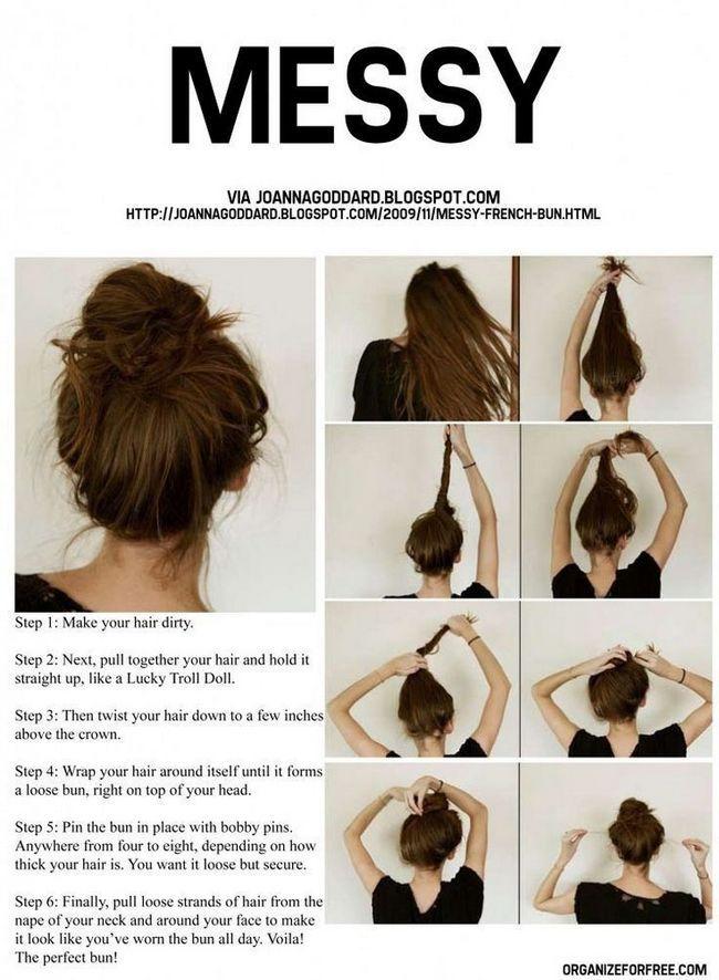 Versuchen sie, einen sommer verdrehte updo: updo haar-designs