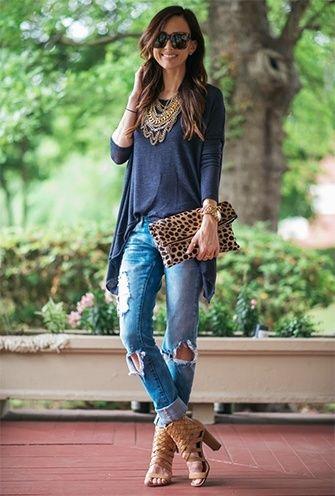 wie Distressed Jeans tragen