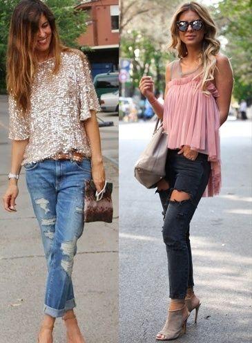 Style-Tipps, wie Distressed Denim zu tragen