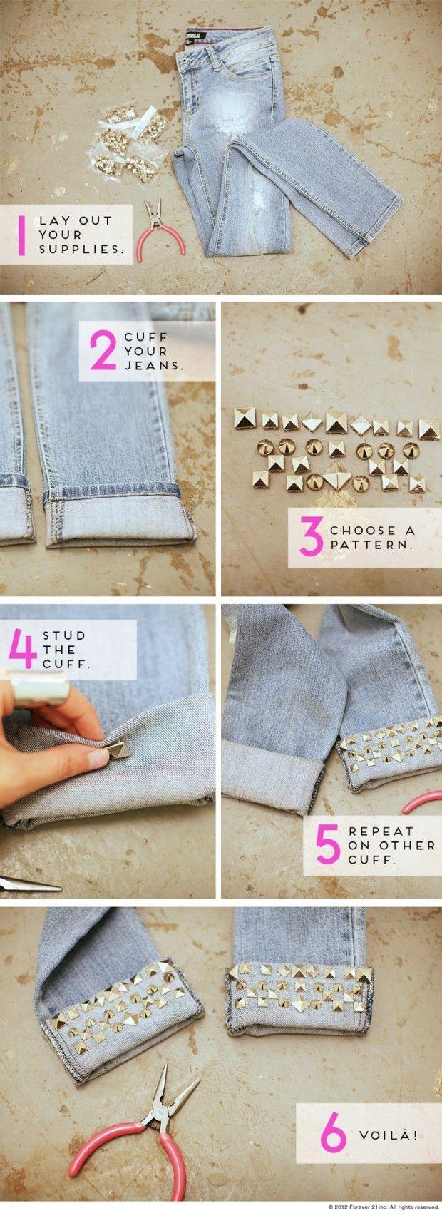 Diy jeans manschetten: wie sie ihre alte jeans zu aktualisieren