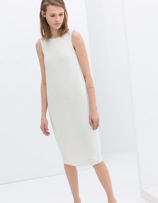 Zara Sleeveless weißes Etuikleid (80 $)
