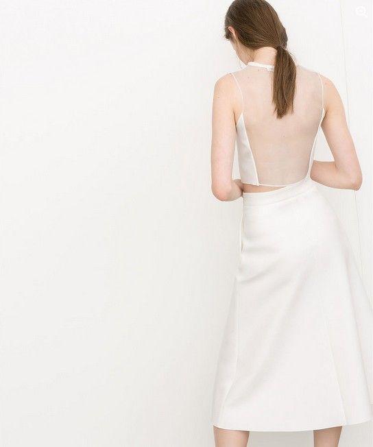 Zara Neopren Sheer-Back Top ($ 26)
