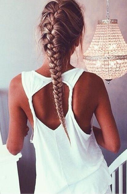Stilvolle Französisch Braid Frisur