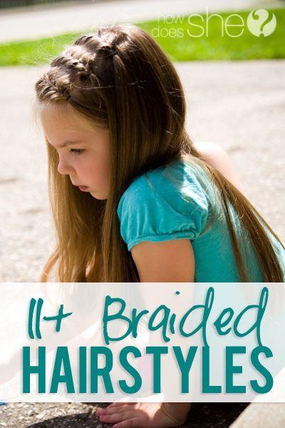 Französisch Braid Frisur für kleine Mädchen