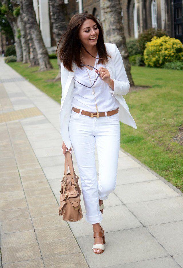 All-Weiße Ausstattung Idee für Frauen