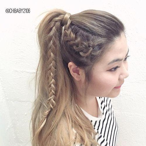 19 Hübsche wege französisch-geflecht ponytails versuchen