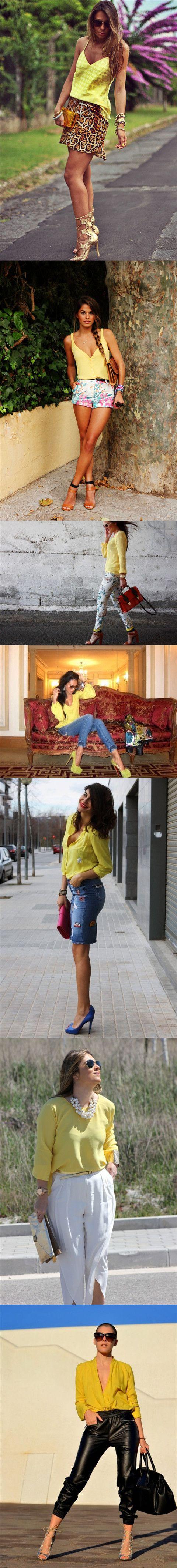 28 Gelbe outfits für einen neuen stil