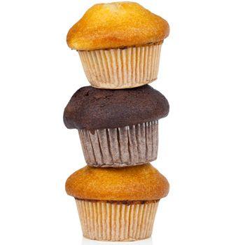 Chocolate cupcakes (hergestellt mit kakao)