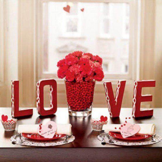 Romantische hauptdekorationen für den valentinstag