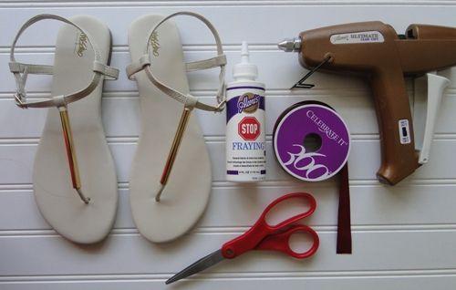Diy t-riemen sandale tutorials