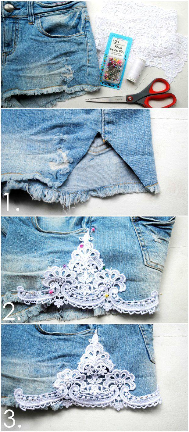 Wie erfolgt die spitze shorts: diy shorts projekte