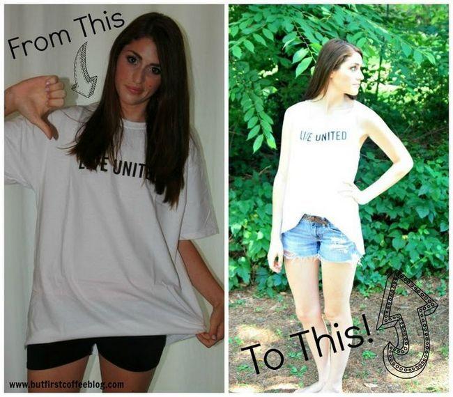 Wie sie ihre übergroßen t-shirts verjüngungskur