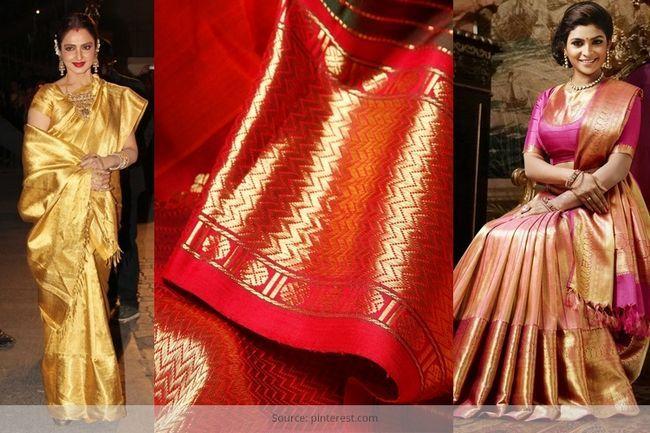 Machen sie ihre braut aussteuer aussehen reich mit kanchipuram braut saris