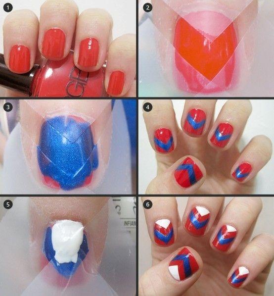 Nail-tutorials: wie klebeband zu verwenden