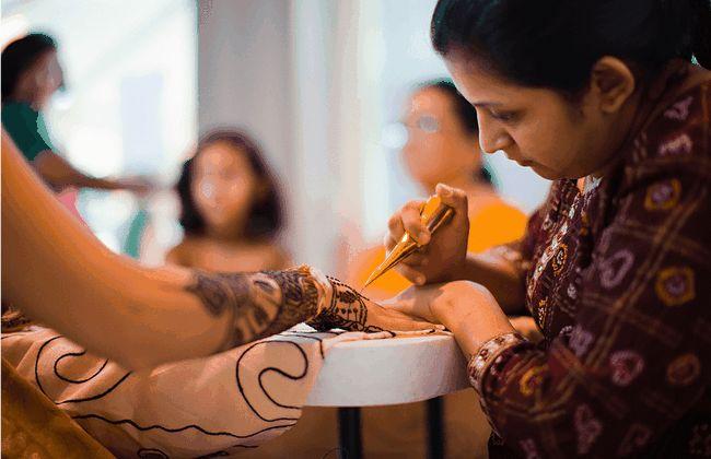 Bedeutung von mehndi im indischen hochzeiten