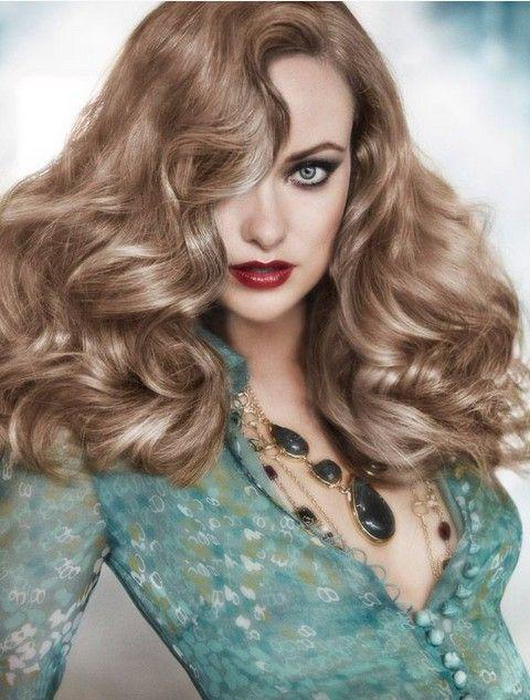 Olivia Wilde Frisuren: Retro-Chic Shaggy Wellig Frisur