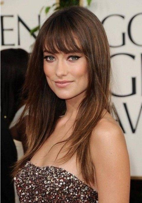 Olivia Wilde Frisuren: Layered Gerade Haircut mit Bangs