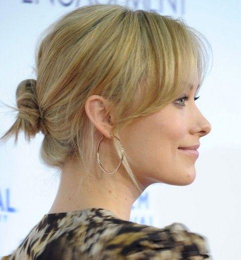 Olivia Wilde Frisuren: reizende klassische Brötchen