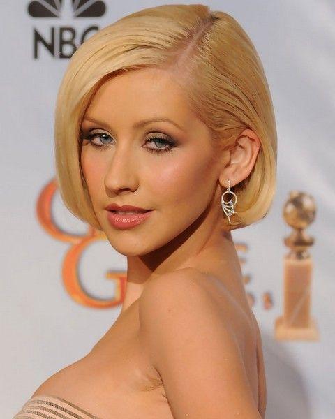 Christina Aguilera Frisuren: Side-gescheitelt Bob