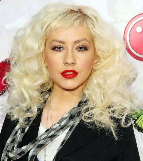 Christina Aguilera Frisuren: Voluminöse Curls
