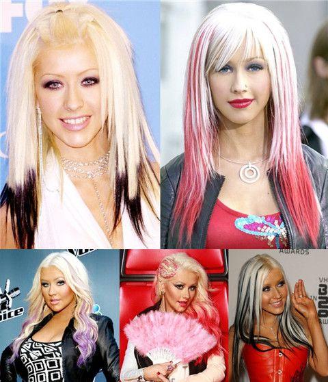 Christina Aguilera Frisuren: Amazing Ombre Frisuren