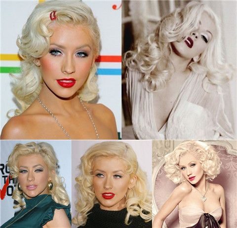 Christina Aguilera Frisuren: Voguish Retro-Frisuren