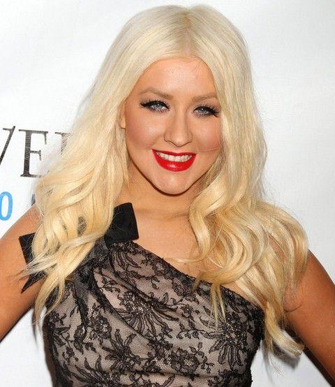 Christina Aguilera Frisuren: Süße Lange Curls