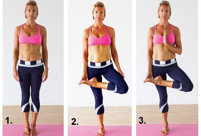 Baumpose / Vrksasana - Frauen`s Health & Fitness