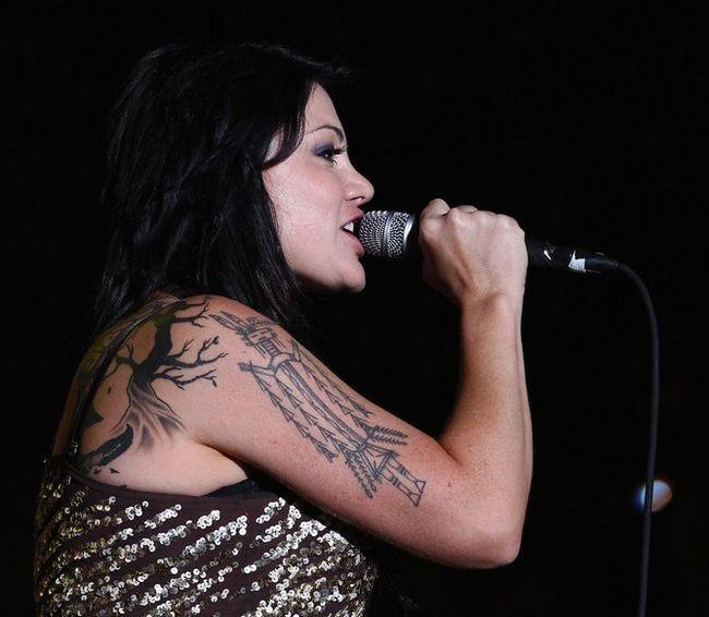Vanessa Amorosi`s Tattoos - Artistic Design Tattoo on Upper Arm
