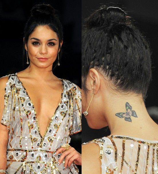 Vanessa hudgens `tattoos - schmetterling tattoo im nacken