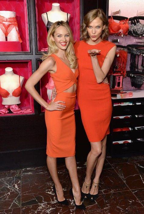Victorias geheimnis modelle zeigen uns, wie man rockt die farbe der saison für frühjahr modetrends